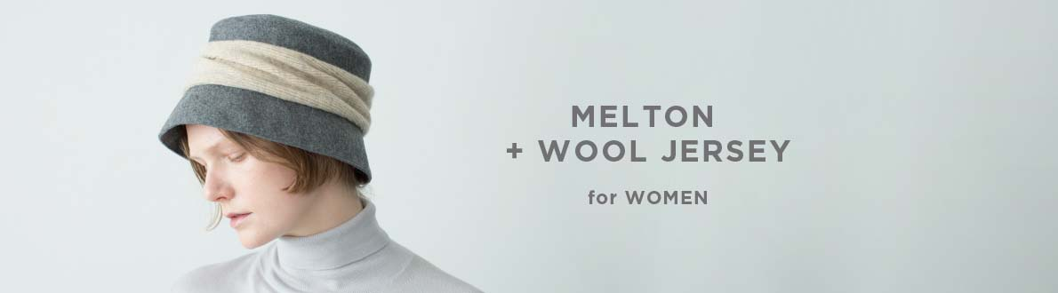 MELTON + WOOL JERSEY for WOMEN