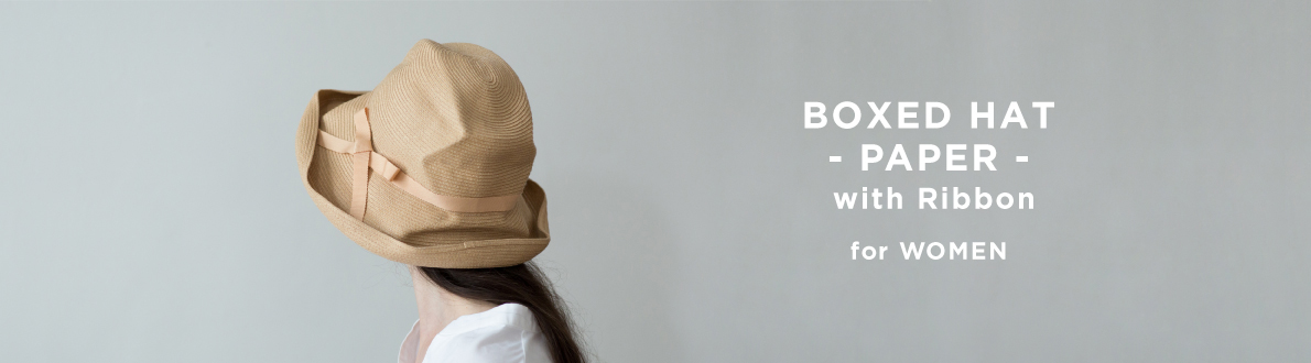 BOXED HAT -PAPER- with Ribbon for WOMEN
